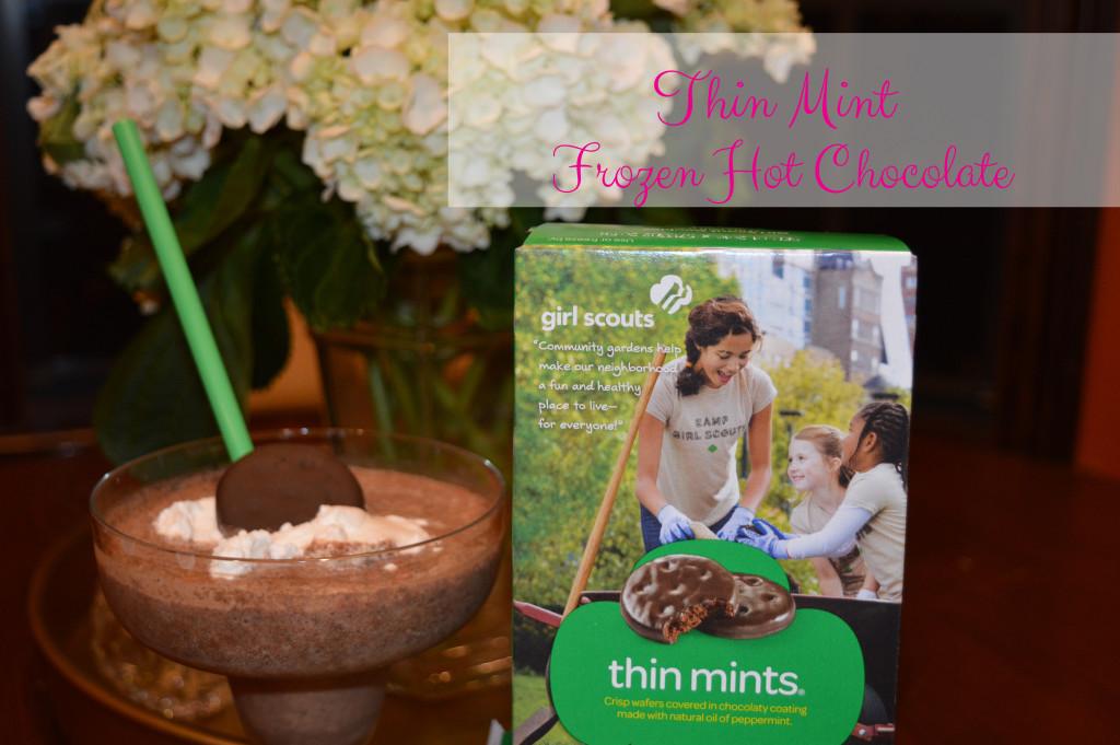thin mint frozen hot chocolate