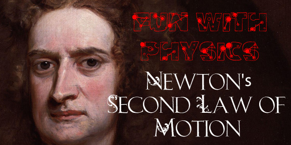 Newtons second law title